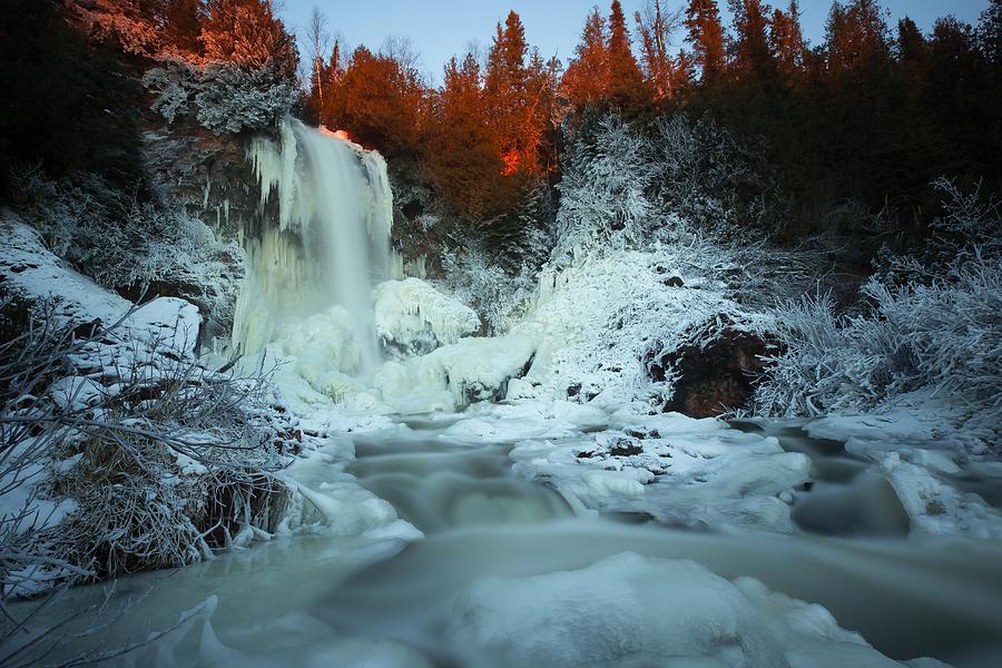 Bitter Photograph - Sunlit Edge Of The Moraine Falls by Jakub Sisak