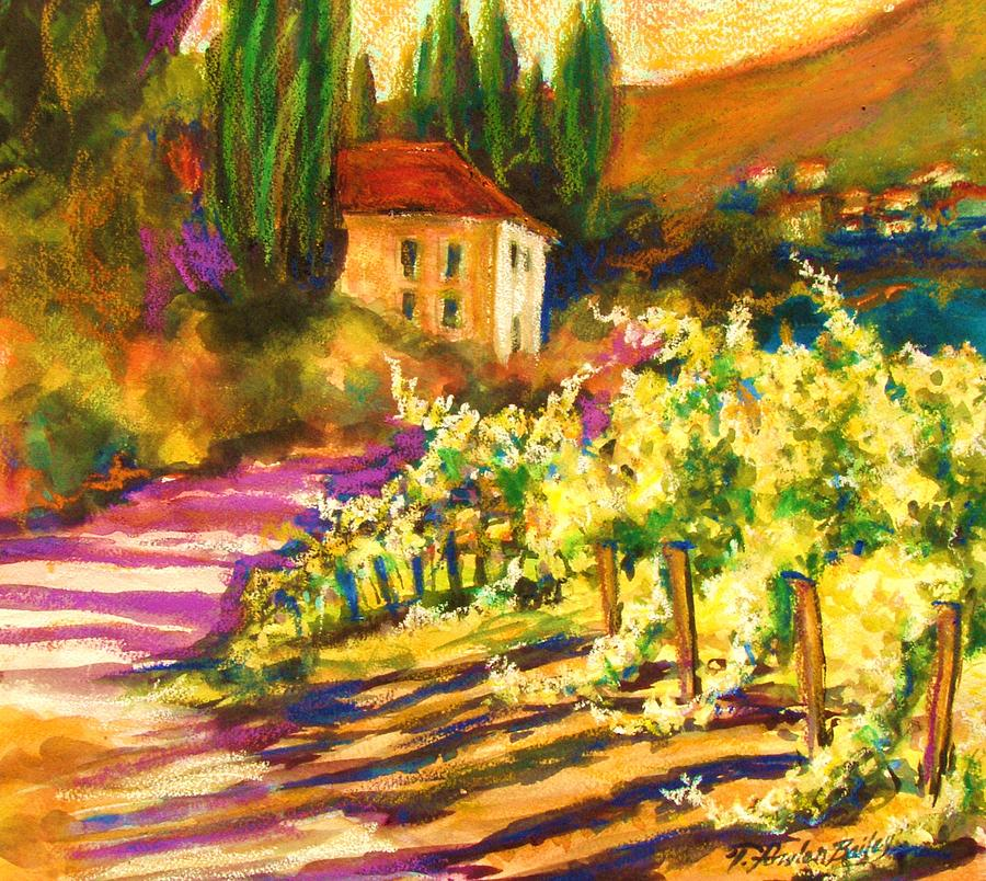 Tuscany Painting - Sunlit Grapevines  Sold by Therese Fowler-Bailey