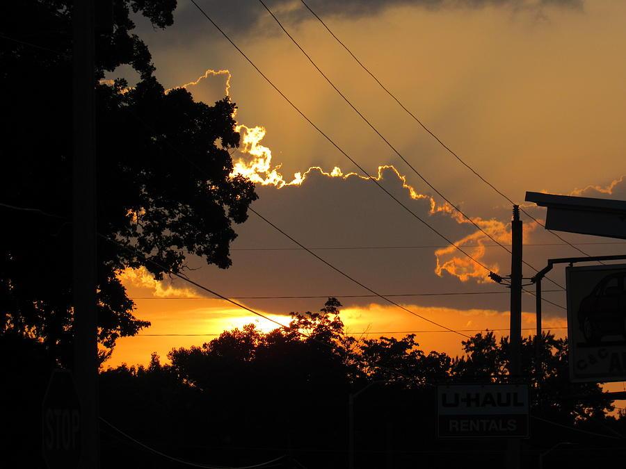 Sunlit Heavens Photograph by Esther Race