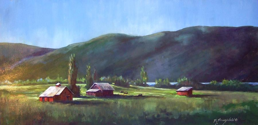 Meadow Painting - Sunlit Meadow by Ruth Stromswold