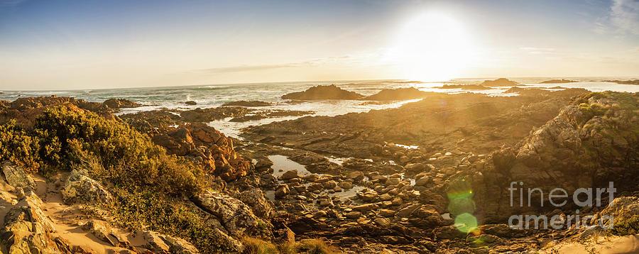 Coastline Photograph - Sunlit Seaside by Jorgo Photography - Wall Art Gallery