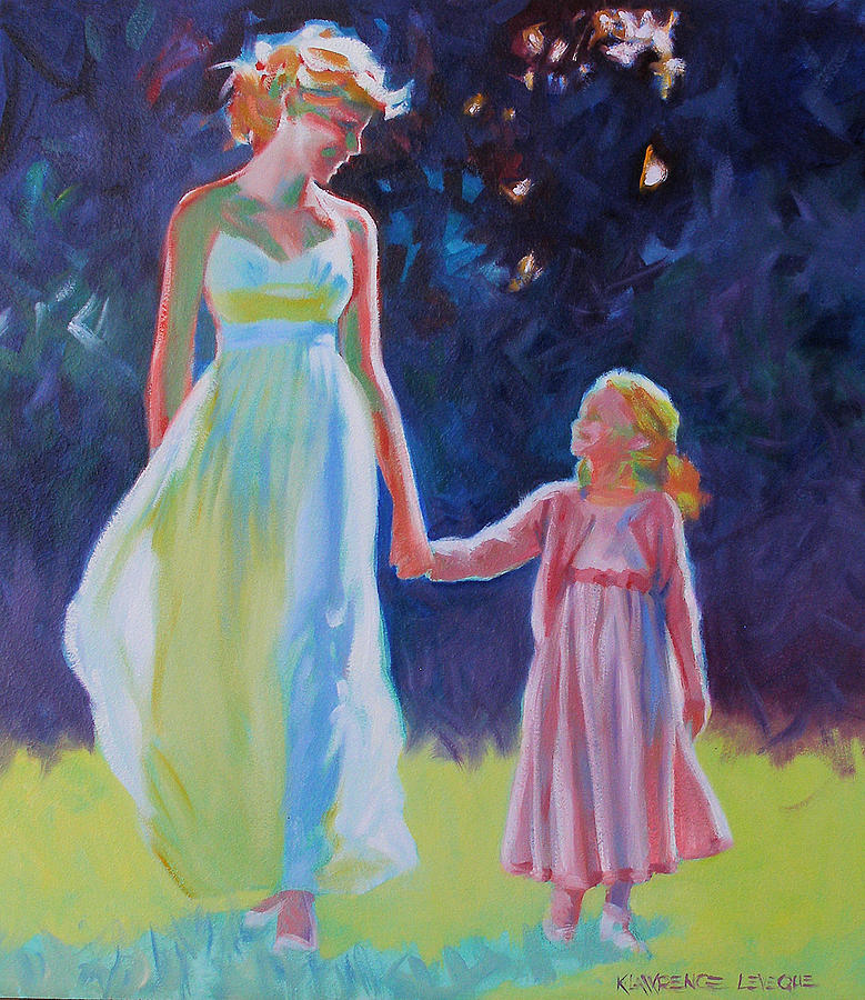 Sunlit Walk Painting by Kevin Lawrence Leveque
