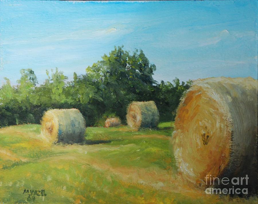 Landscape Painting - Sunner Harvest by Mike Yazel