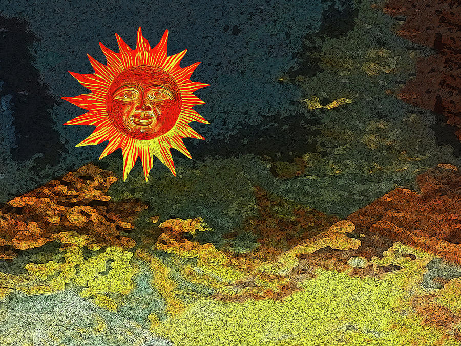 Suns Digital Art - Sunny 1 by Bruce Iorio