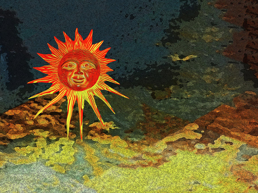 Suns Digital Art - Sunny 3 by Bruce Iorio