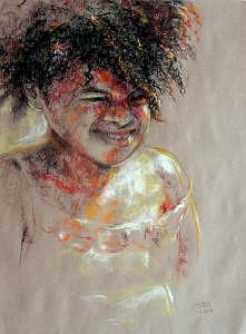 Portrait Painting - Sunny Afternoon by Tina Siddiqui