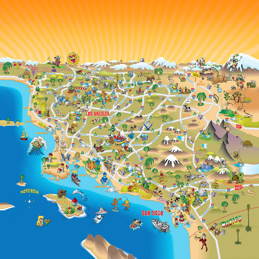Popular List Map Southern California - Califonia map