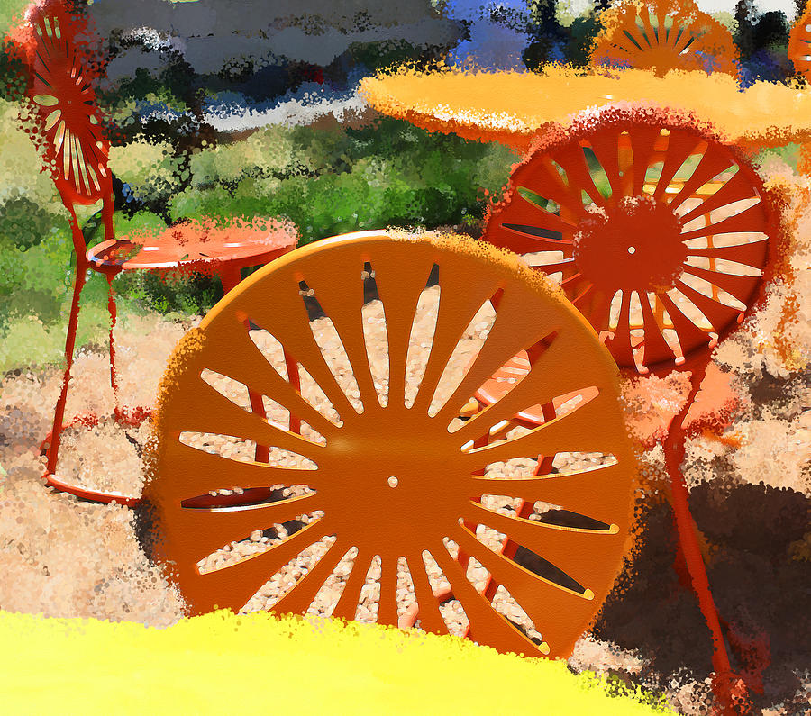 Milwaukee Digital Art - Sunny Chairs 5 by Geoff Strehlow