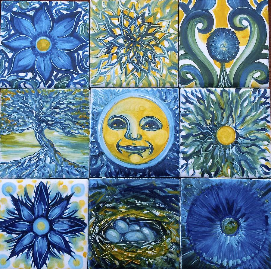 Sun Painting - Sunny Collection by Karen Doyle