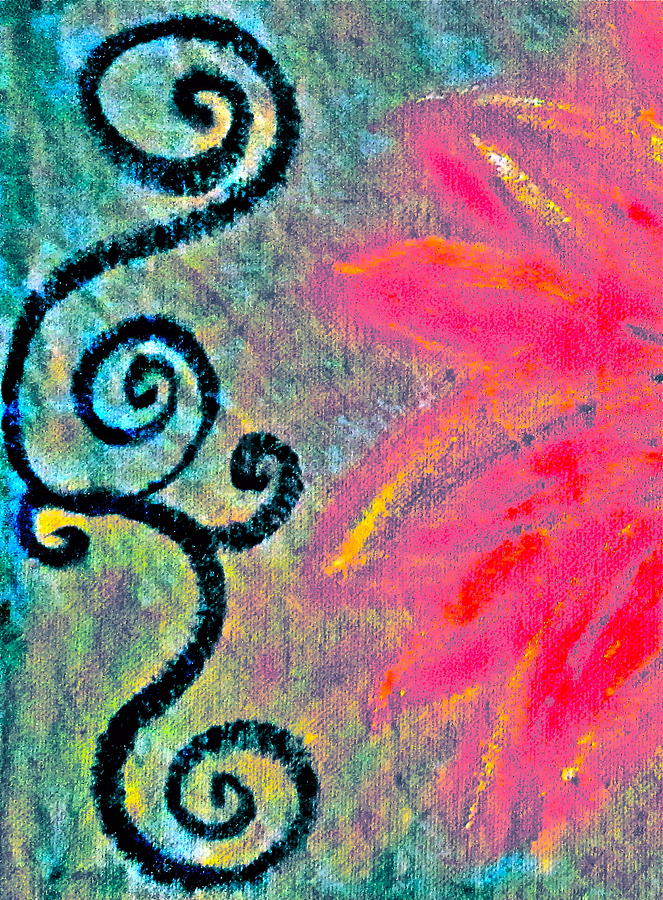 Sunny Mixed Media - Sunny Day Pink by Gwyn Newcombe