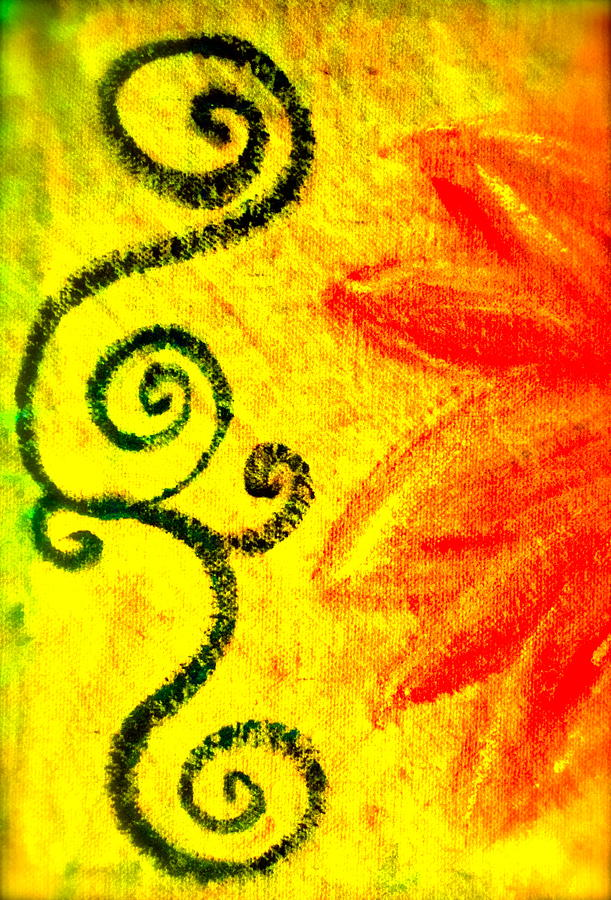 Sunny Mixed Media - Sunny Day Red by Gwyn Newcombe