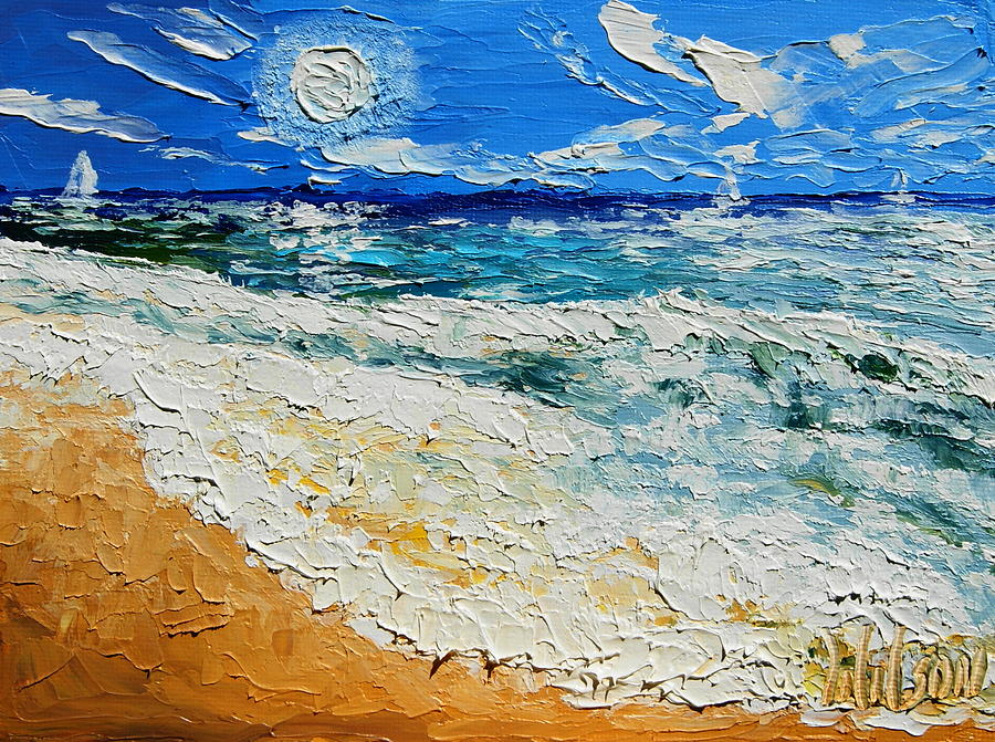 Sail Painting - Sunny Day Sail by Chrys Wilson