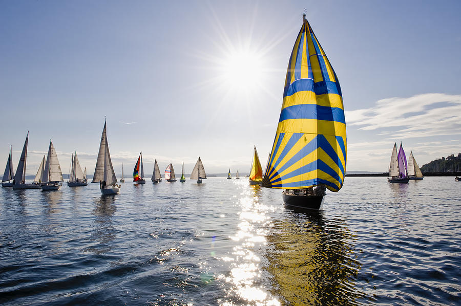 Seattle Photograph - Sunny Day Sailing by Tom Dowd