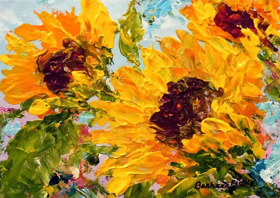 Sunflowers Painting - Sunny Day Sunflowers by Barbara Pirkle