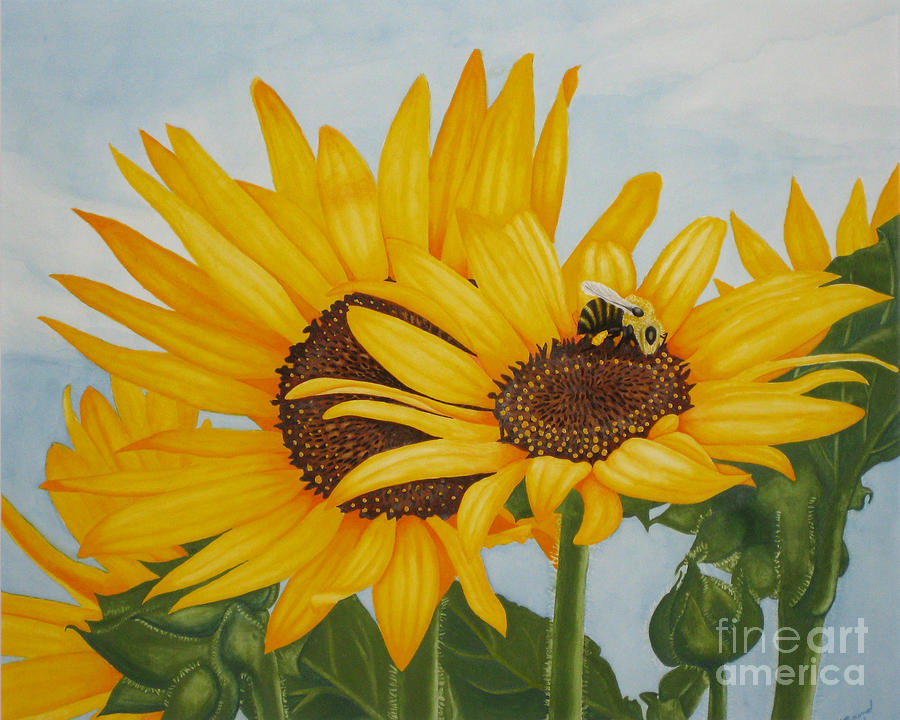 Sunflower Painting - Sunny Dayz by Vivian Bound