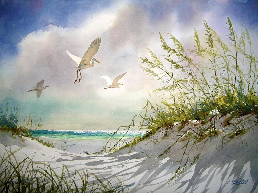 Sunny Dune Painting By Tom Bond