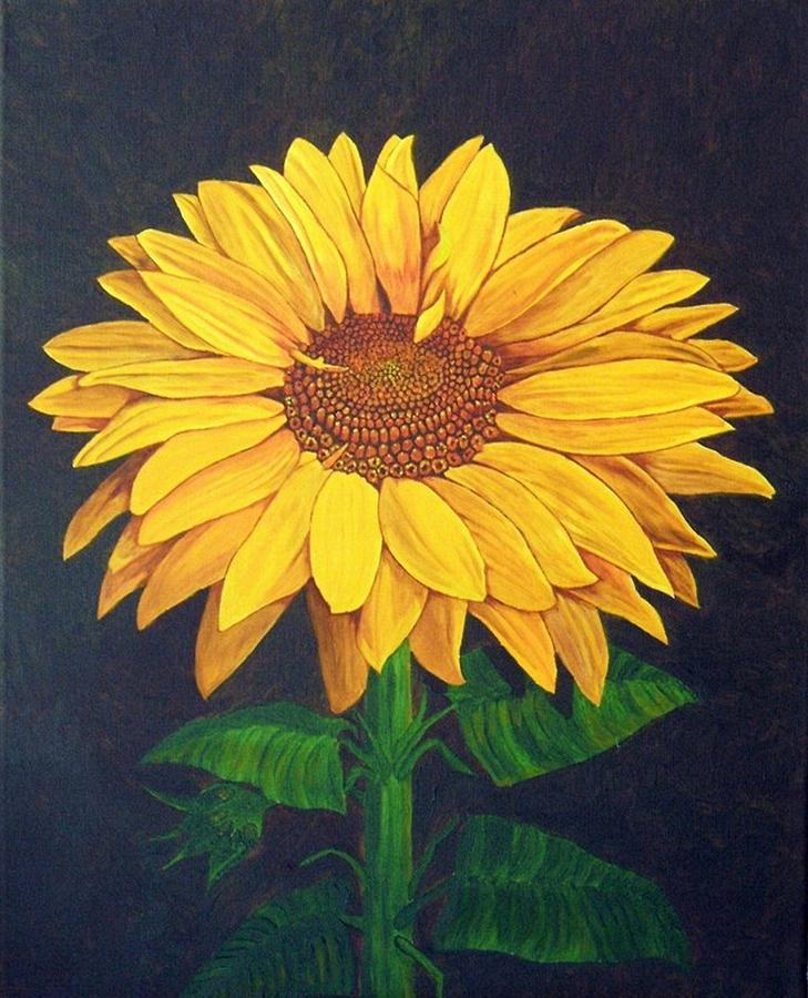 Sunflower Painting - Sunny Flower by Brandy House