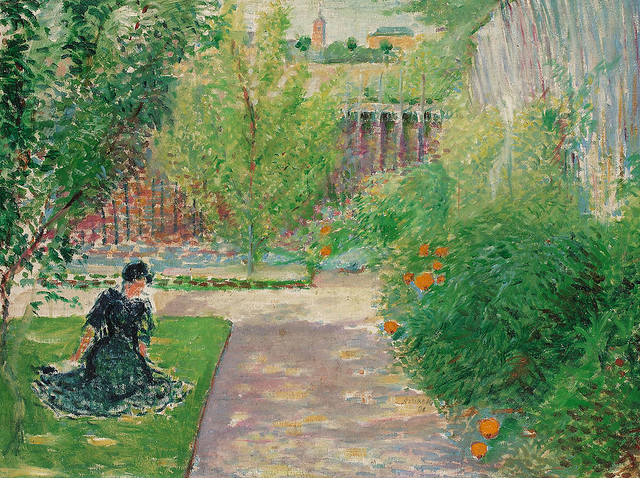 Картинки по запросу framed canvas art - sunny garden, 1908 by august macke