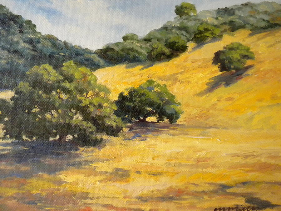 Landscape Painting - Sunny Hills by Maralyn Miller