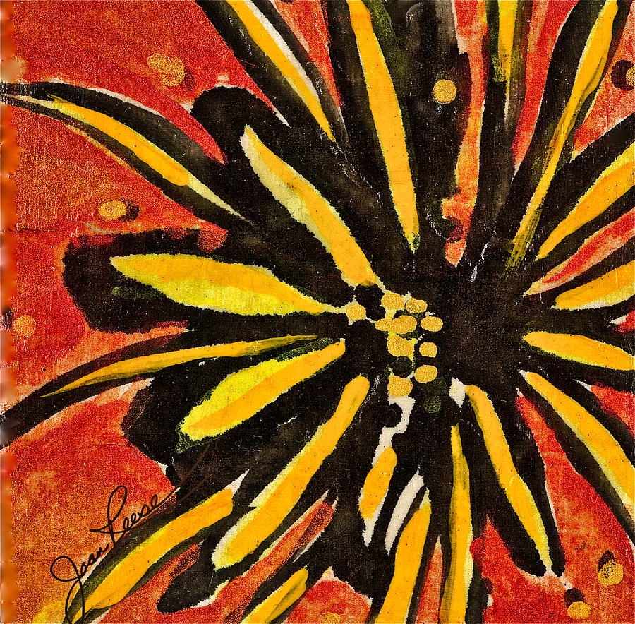Flower Painting - Sunny Hues Watercolor by Joan Reese