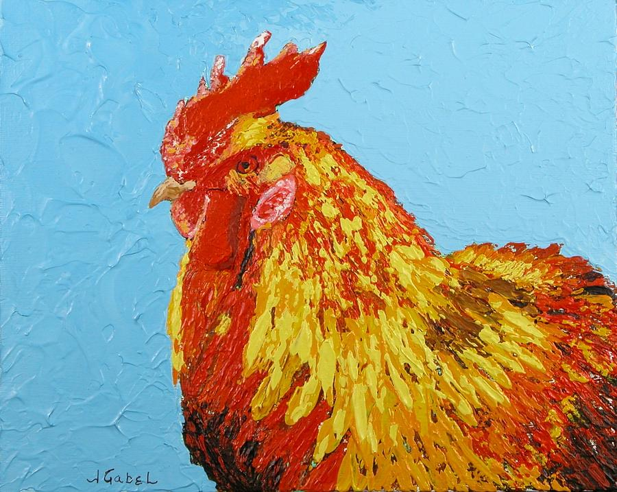 Acrylic Painting - Sunny by Laura Gabel