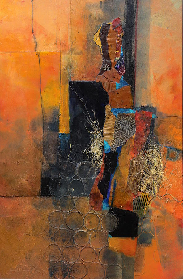 Collage Painting - Sunny Mindset by Carol Nelson