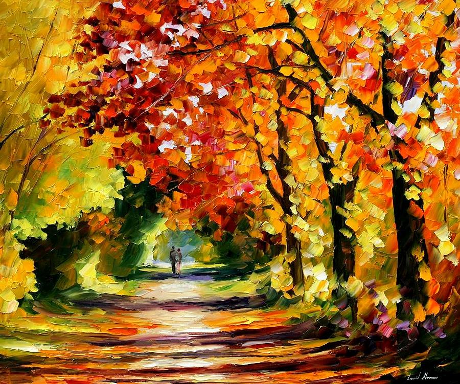Sunny Path Painting By Leonid Afremov