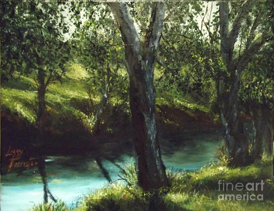 Sunny Riverbank Painting