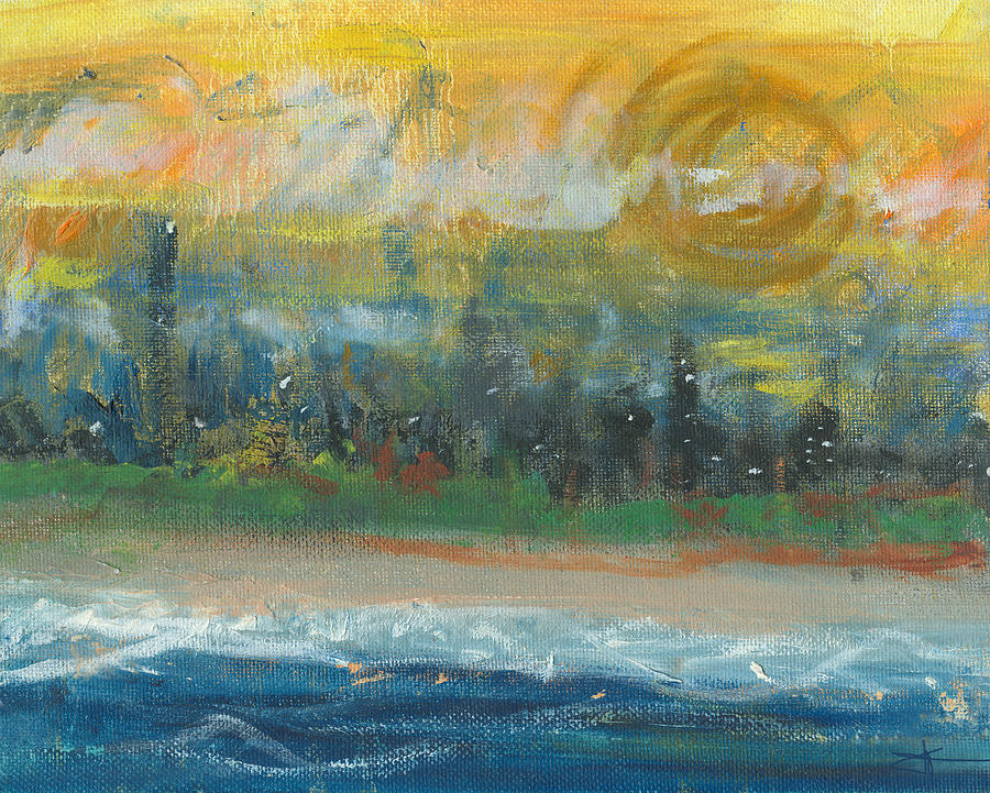 Beachscape Painting - Sunny Side Beach by Jorge Delara