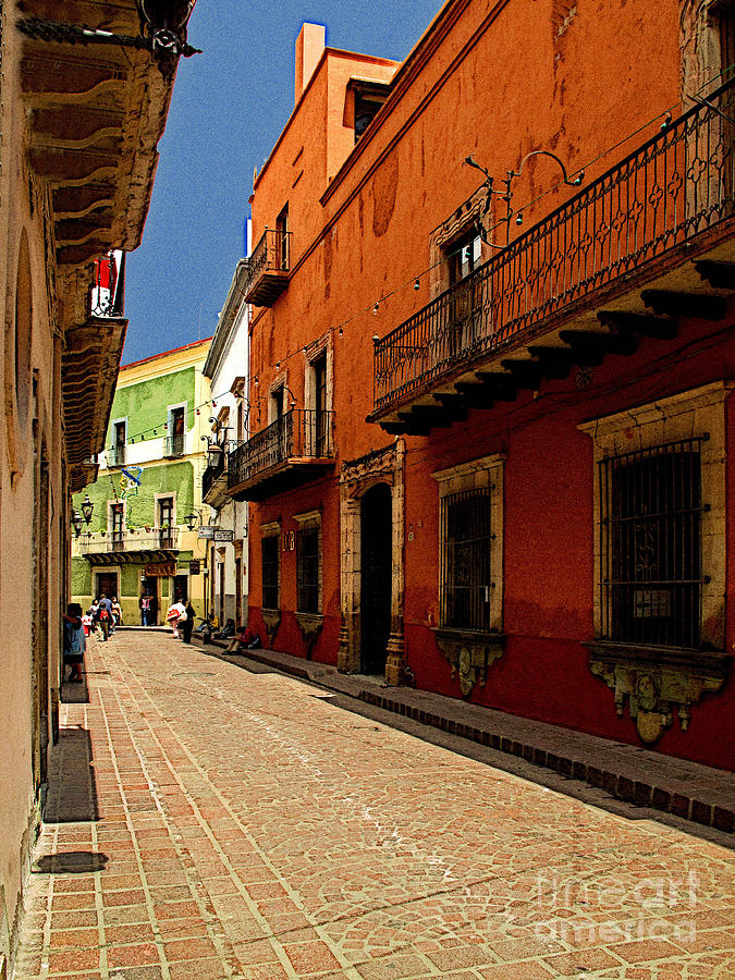 Darian Day Photograph - Sunny Street by Mexicolors Art Photography