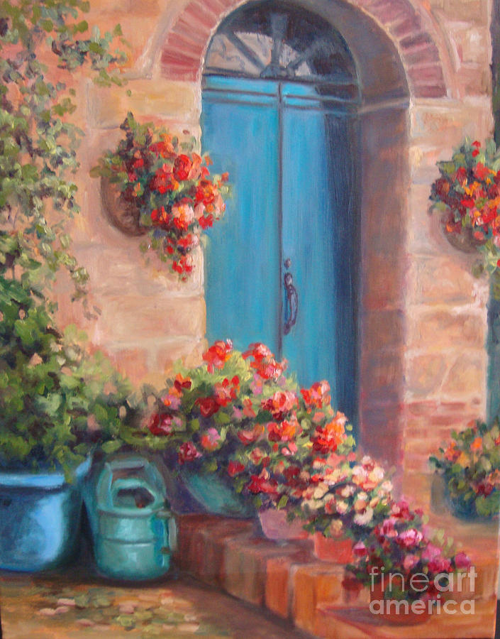 Door Painting - Sunny Welcome by Kathy Brusnighan