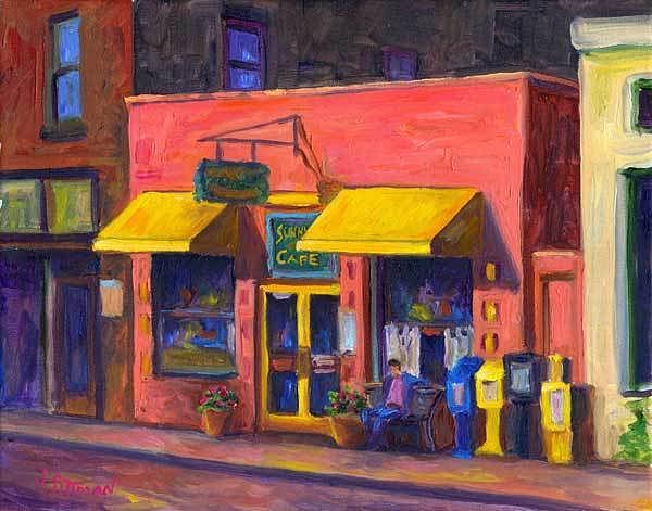 Cafe Painting - Sunnyside Cafe by Jeff Pittman