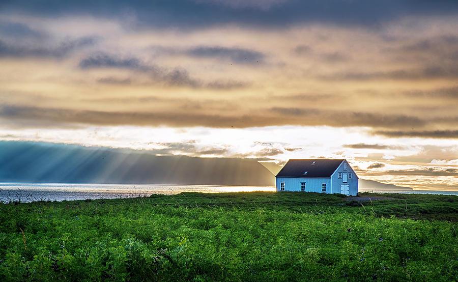 Sunrays over Huskavik Iceland by Dave Dilli