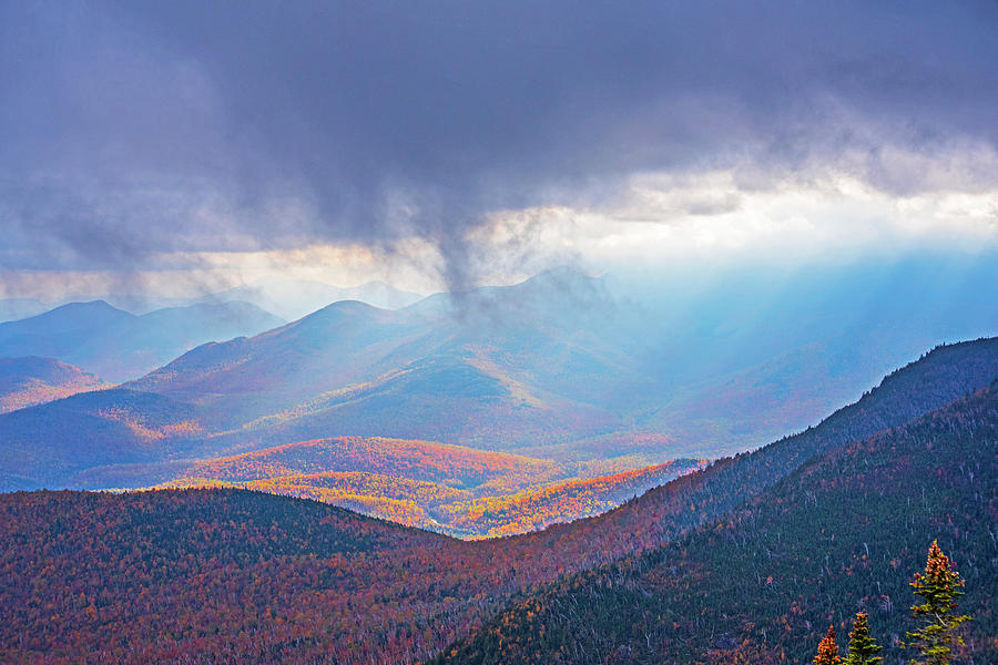 Sunrays over the Adirondacks from Little RPR Keene Valley NY by Toby McGuire