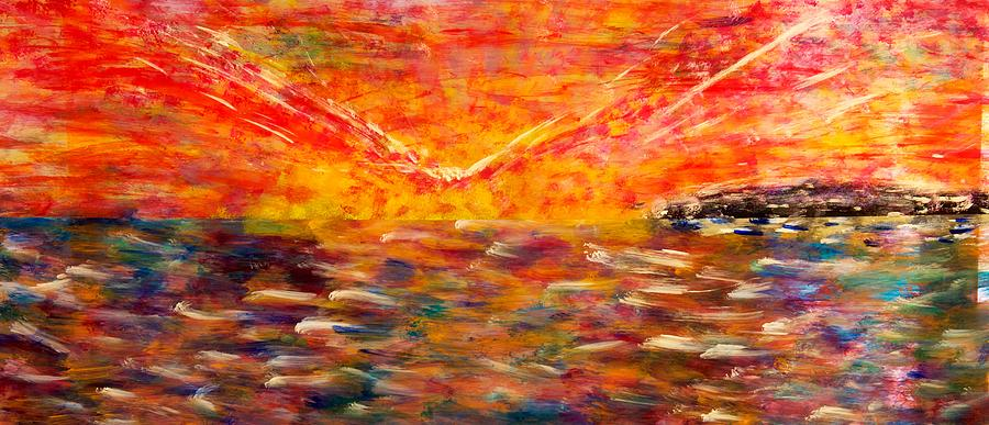 Acrylic Painting - Sunrise #2 15-8 by Patrick OLeary