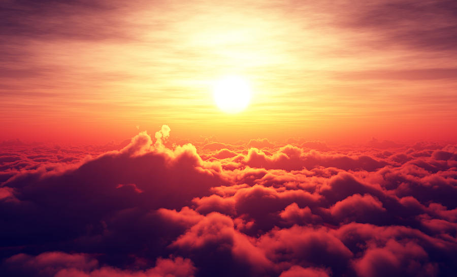 Sunrise Above The Clouds Photograph