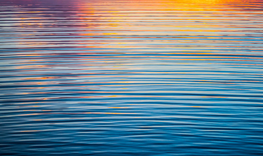 Sunrise Abstract On Calm Waters by Parker Cunningham