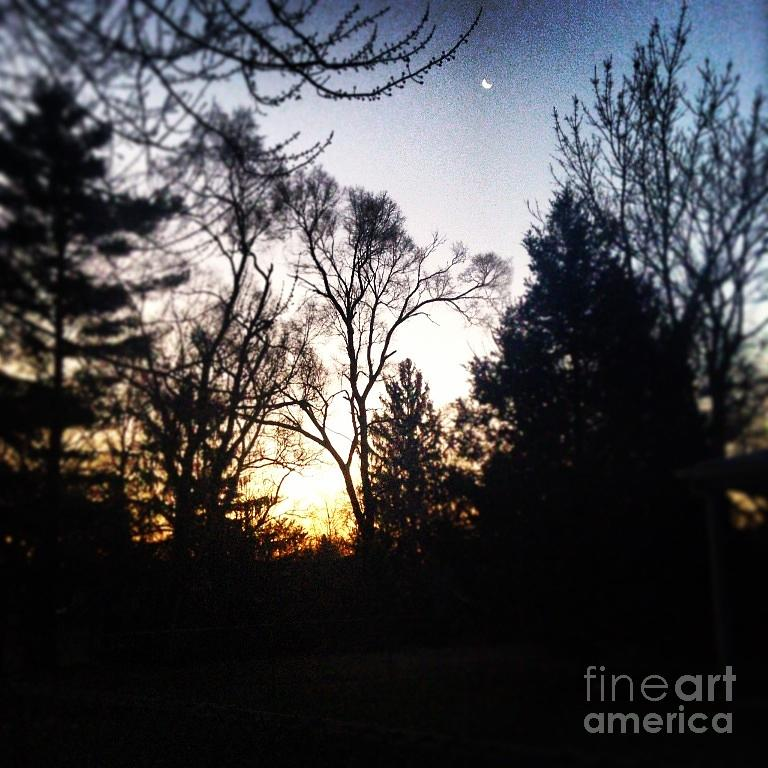 Sunrise And The Moon Photograph