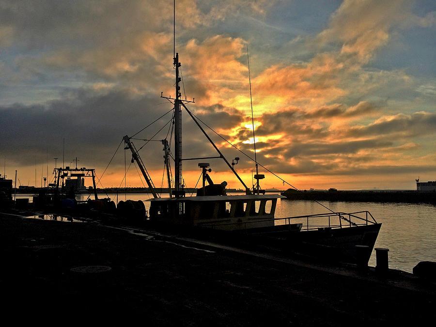 Sunrise at Boston Fish Pier by Rick Macomber