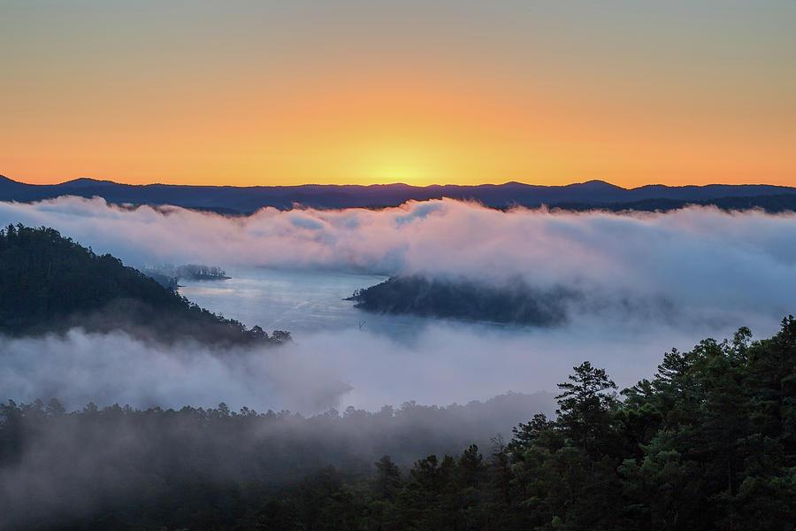 Oklahoma Photograph - Sunrise At Broken Bow Lake by Ryan Friesen