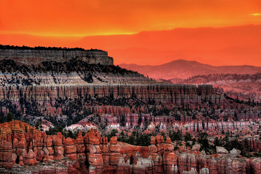 Horizontal Photograph - Sunrise At Bryce Canyon by Photography Aubrey Stoll