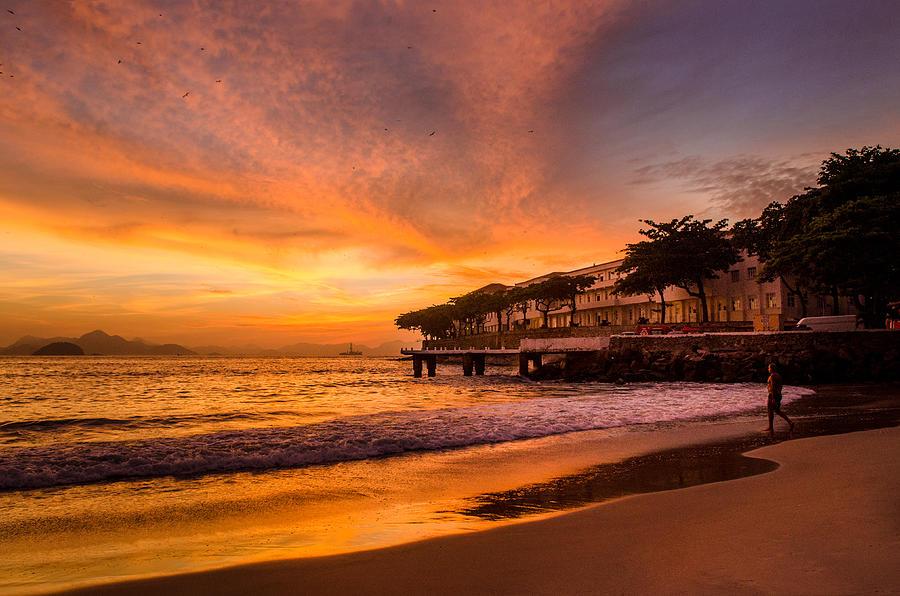 Copacabana Beach Rio De Janeiro by Utah Images