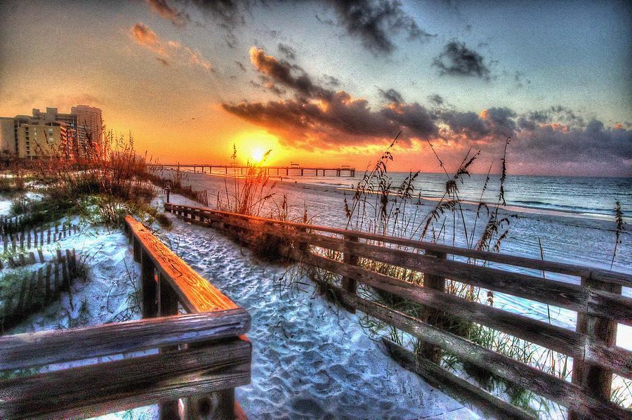 Pelican Digital Art - Sunrise At Cotton Bayou  by Michael Thomas