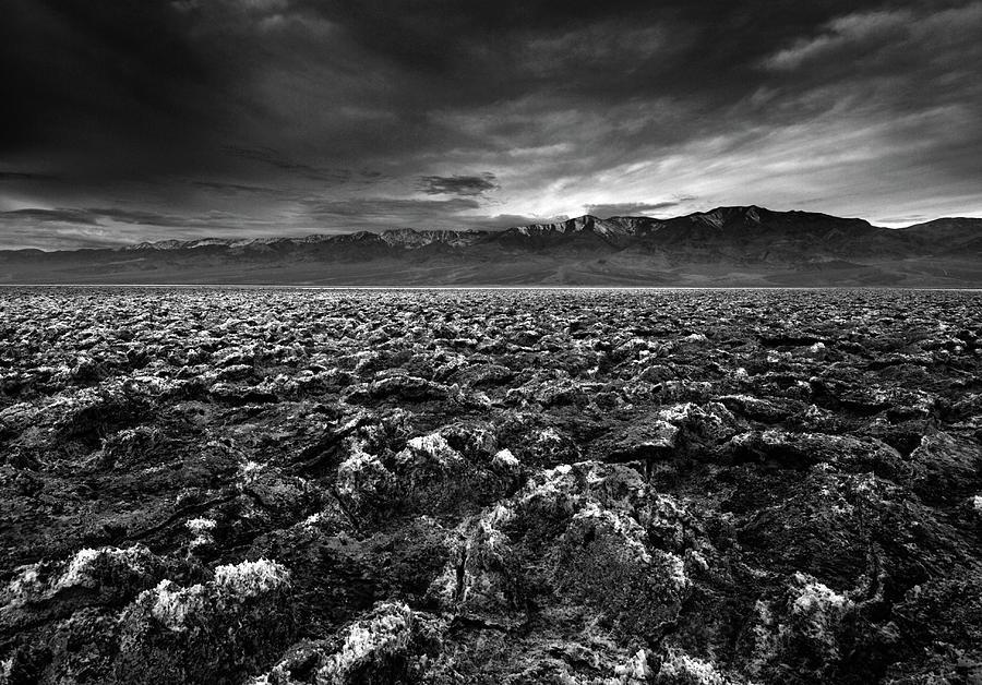 Horizontal Photograph - Sunrise At Devils Golf Course, Death Valley, Deat by David Kiene