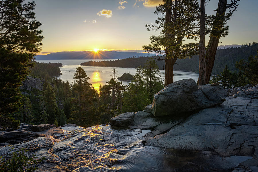 Sunrise at Emerald Bay in Lake Tahoe by James Udall