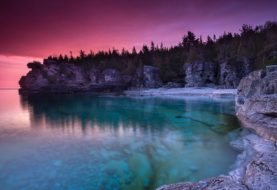 Landscape Photograph - Sunrise At Indian Head Cove by Cale Best