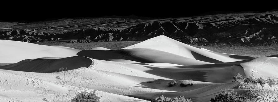 Death Valley Photograph - Sunrise At Mesquite Flat Sand Dunes Panorama by Gej Jones