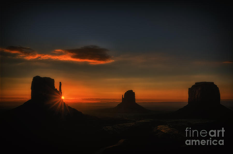 Sunrise At Monument Valley Photograph
