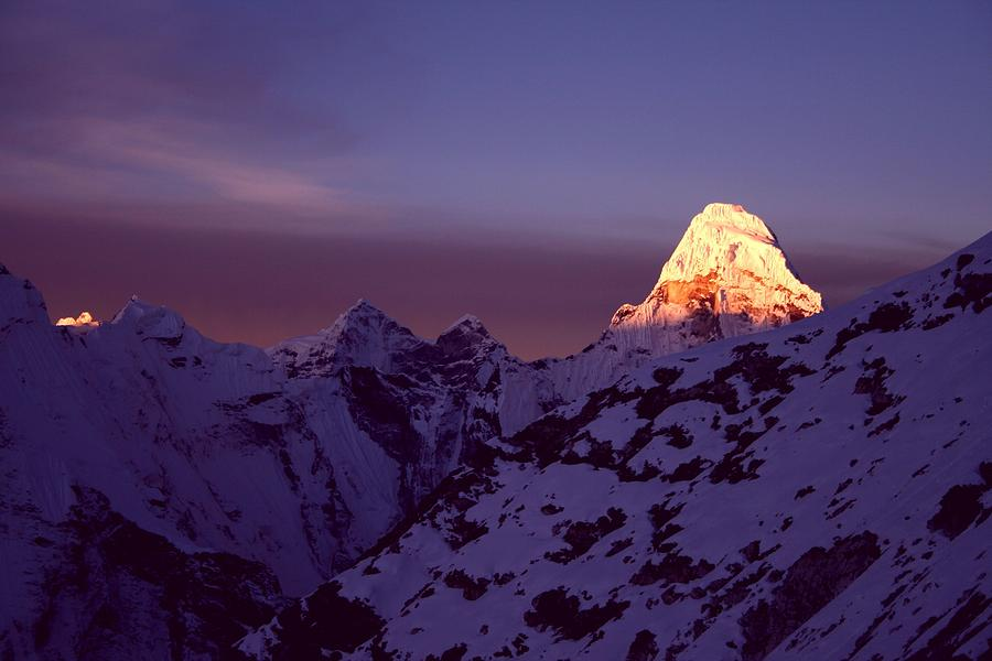 Horizontal Photograph - Sunrise At Mt. Ama Dablam by Pal Teravagimov Photography