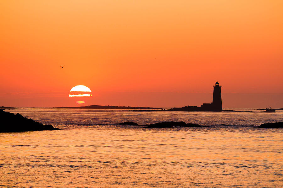 Ocean Photograph - Sunrise At Odiorne Point 1 by David Goodwin